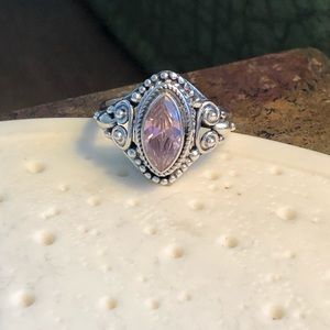 Jewelry - Kunzite Pink Sterling Silver Ring Sz 6